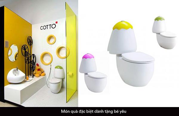Bồn cầu Cotto trẻ em với thiết kế độc đáo, bắt mắt