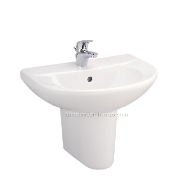 Chậu rửa treo tường chân ngắn Cotto C014-C4201