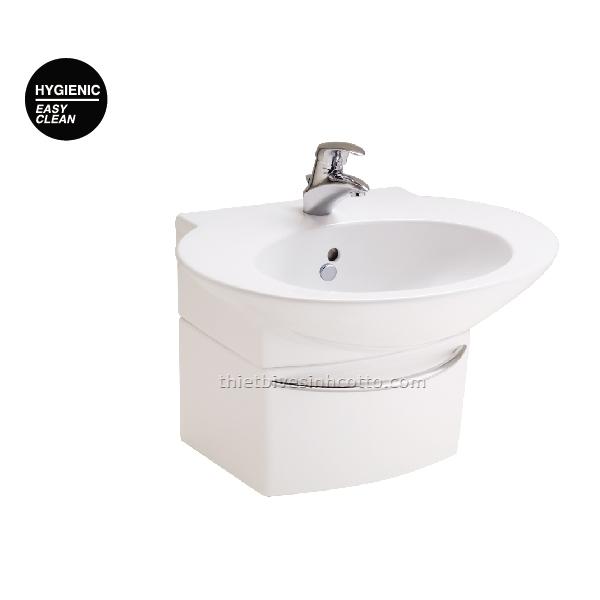 Chậu rửa treo chân ngắn ốp tường Cotto SC01027