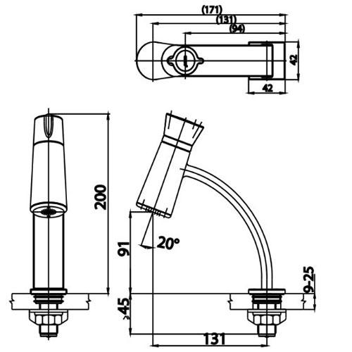 thông số kỹ thuật của vòi chậu cotto CT1139A