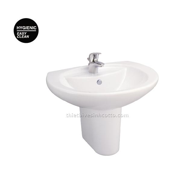 Chậu rửa treo tường chân ngắn Cotto C0107-C4201