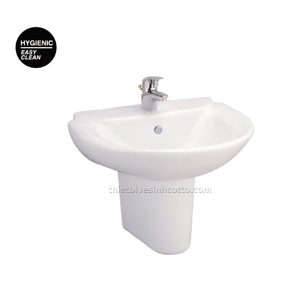 Chậu rửa treo tường chân ngắn Cotto C0237-C4201